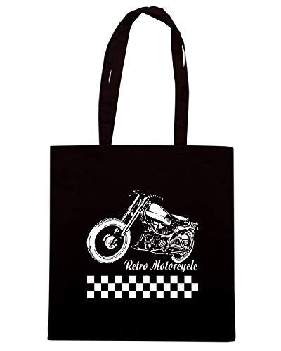 Speed Shirt Borsa Shopper Nera TB0094 RETRO MOTORCYCLE