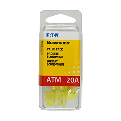 - Bussmann (VP/ATM-20-RP) Yellow 20 Amp Fast Acting ATM Mini Fuse, (Pack of 25)