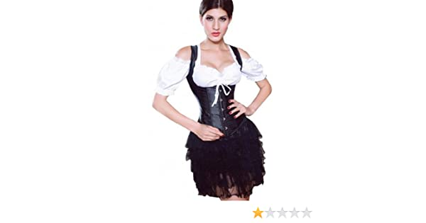 0f8b7e0cfb3 Amazon.com  Mabella Women s Plus Size Waist Training Underbust Corset with  Shoulder Straps (XXXXX-Large