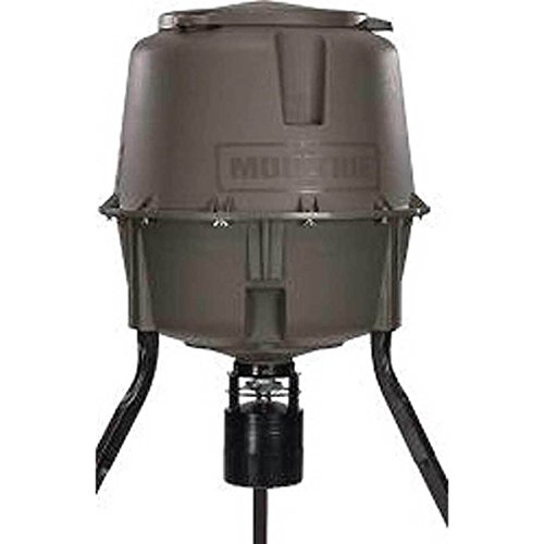 Moultrie Deer Feeder Elite Tripod | Digital Timer | Adjusts from 5.5, 7 feet to 8 feet | Quick-Lock ()