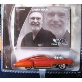 Mattel Hot Wheels 2002 Hall of Fame Legends 1:64 Scale 35th Anniversary Larry Wood Orange Evil Twin Die Cast Car