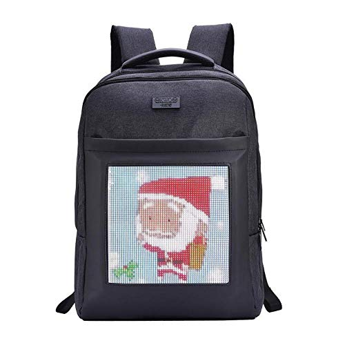 Computer Laptop Backpack with 5V LED Color Screen Dynamic Display Image Support WiFi, GPRS, GPS Storage School Bag for MacBook