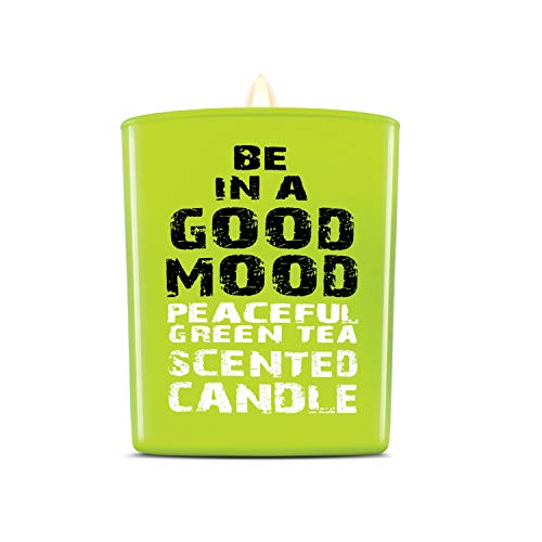 - Be in a Good Mood Aromatherapy Candles | Premium Scented Candles | Each Candle Set is Crafted with Perfection - Candle Jars, Hand Poured with Non-Toxic Mineral Wax & Cotton Wick (Green Tea)