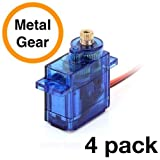 #8: FEETECH FS90MR (4 Pack) - 360° Rotation   Metal Gear Continuous Rotation Robotic Servo   by himalayanelixir