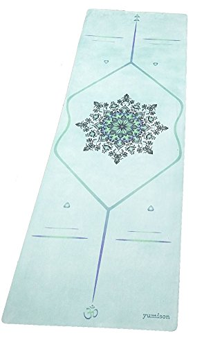 Natural Rubber Eco-friendly Skid-resistant Printed Hot Yoga Mat 4 mm (Green)