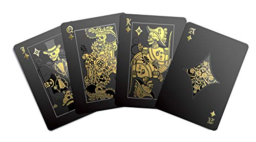 Gent Supply Black Waterproof Playing Cards - Day of The Dead, Gold Silver & Black Edition (Insect Playing Cards)