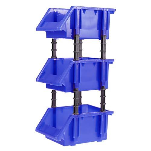 Yardwe Estantería de Plástico con Cajones Apilable para Organizador de Herramientas Juguete Bricolaje 3pcs 150x110x74mm...