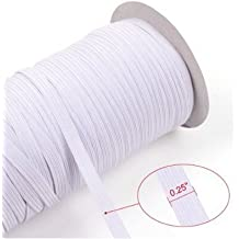 "Top Hunter White 70-Yards Length 1/4"" Width Braided Elastic Cord/Elastic Band/Elastic Rope/Bungee/White Heavy Stretch Knit Elastic Spool (white)"