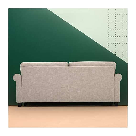 Zinus Josh, Sofa, Beige - Easily assembles with a friend, no tools needed, in under 20 minutes Stress free fabrics were chosen to be durable and easy to clean 77.5 inches long with traditional Styling - sofas-couches, living-room-furniture, living-room - 41p87Go0ivL. SS570  -