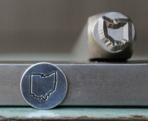 8mm Ohio US State Metal Punch Design Jewelry Stamp by The Supply Guy