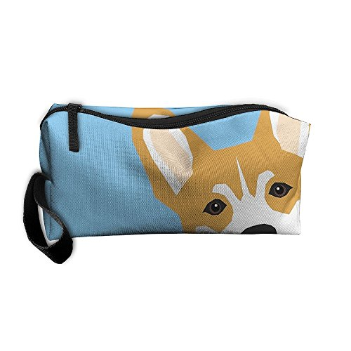 - Corgi Peek Cute Dog Welsh Corgi Gift Unique Pet Customizable Gifts For Dog Lovers 3D Full Print Portable Pouch Bag Travel Case Cosmetic Makeup Bag With Zipper