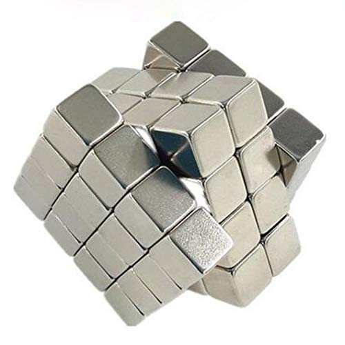 Square Permanent Magnet Cube Magnets - 10 x 10 x 10 mm, Pack of 10