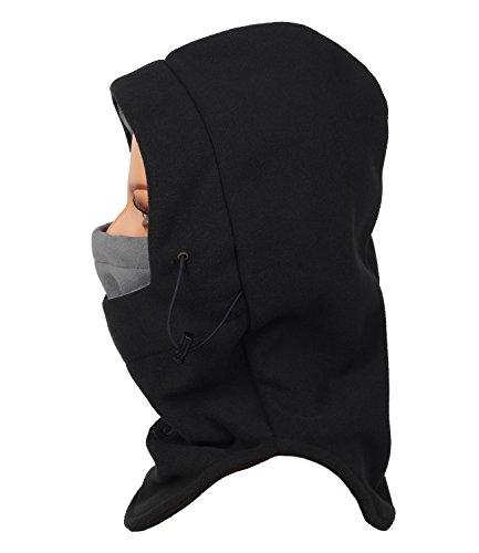 Purjoy Multipurpose Use 6 in 1 Thermal Warm Fleece Balaclava Hood Police Swat Ski Bike Wind Stopper Full Face Mask Hats Neck Warmer Outdoor Winter Sports Snowboarding cap