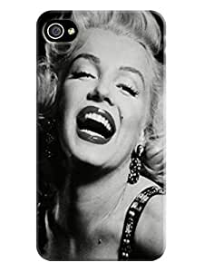 iphone 4/4s Case, Thin Flexible Marilyn Monroe Plastic Case iphone 4/4s Case Never Grow Up,New Style fashionable Designed
