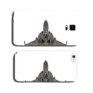 head-on view of an isolated unmarked military jet cell phone cover case iPhone6 Plus