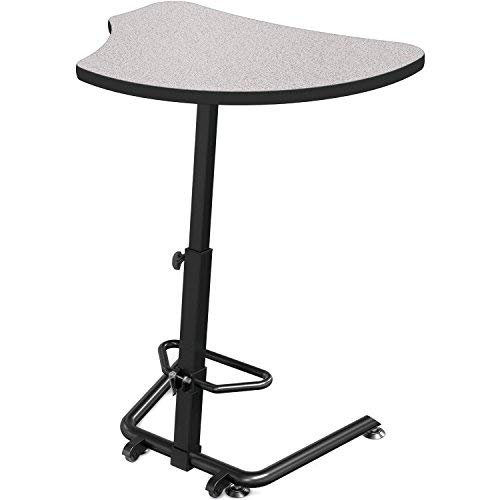 - MooreCo Up-Rite Harmony Sit to Stand Configurable Student Desk-Gray Nebula Front Surface and Laminate Backer Back Surface-Black (90532-G-4622-BK)