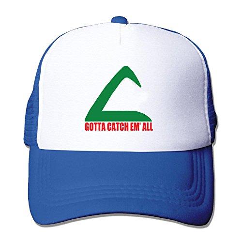 Unisex mesh baseball cap Ash Ketchum pokeball Trucker Hat (5 colours)