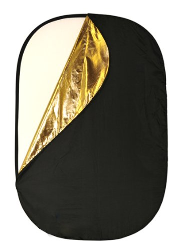ePhoto Extra Large Oval 5 in 1 Reflector Panel Kit with Black, White, Silver, Gold and Translucent
