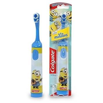 Funciona con pilas siervo MINIONBLUE Colgate cepillo de dientes pequeños oscilante de la cabeza que limpia