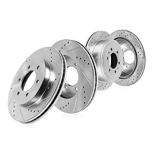 - Callahan CDS02526 FRONT 350mm + REAR 348mm D/S 6 Lug [4] Rotors [ for 2012 2013 2014 Ford F150 ]