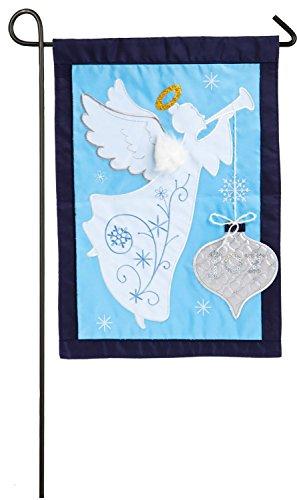 Evergreen Joyful Christmas Applique Garden Flag, 12.5 x 18 (Joyful Embroidery)
