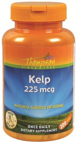 Thompson - Kelp Natural Source of Iodine 225 mcg. - 200 Tablets (Thompson Kelp)