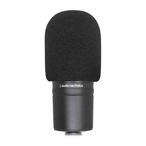 SUNMON Microphone Foam Windscreen Cover, Perfect Mic Pop Filter Mask Shield for Audio Technica AT2020 and Other Large Microphones (Black)