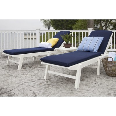 Nautical 3 Piece Chaise Set with Cushions (Set Lounge Polywood)