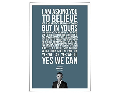 Barack Obama 2017 Farewell Address Speech Art Print. 60 Colours/4 Sizes. Presidential Quote. American History
