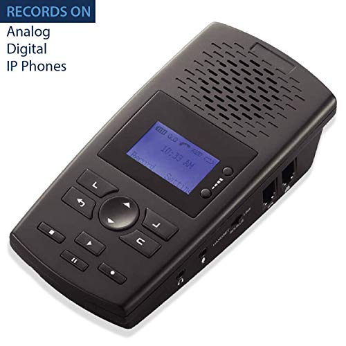 RecorderGear TR600 Landline Phone Call Recorder for Analog/IP/Digital Lines, Automatic Telephone Recording Device ()