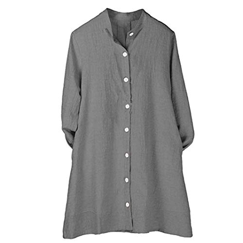 BeautyVan—Winter Women Button Dress Long Shirts Dress Skirt Women Cotton Linen Long Autumn Sleeve Tunic Top Blouse -