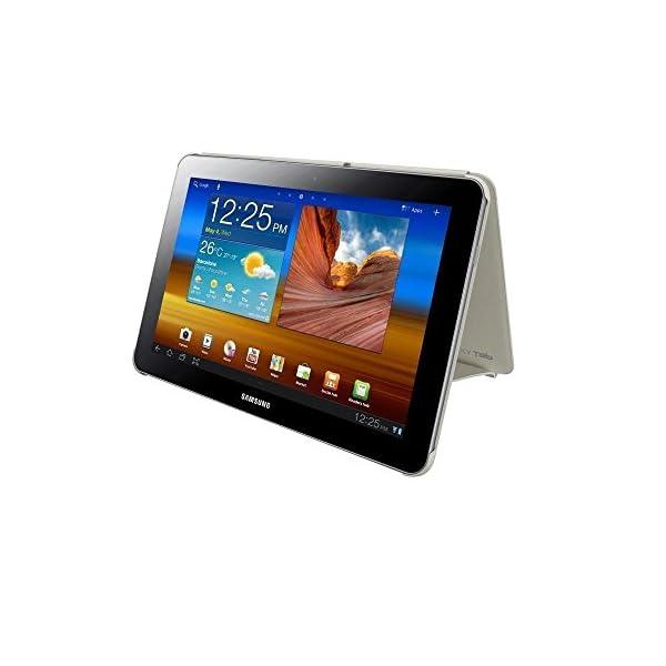 Samsung Book Cover - Funda para Samsung GT-P7500 Galaxy Tab 10.1 (función soporte), blanco 14