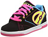 Heelys Kids Propel Skate Shoe, Black Neon, 2 M US