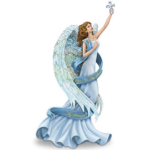 Hamilton 09 05305 001 thomas kinkade you are my soul my strength angel figurine and swarovski - Angels figurines for sale ...