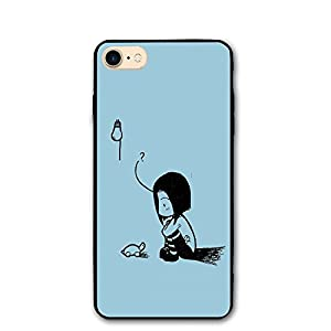 Trendy Dust-proof Cute Turtle And Girl Traditional Art Drawings Healthy Iphone8 Case