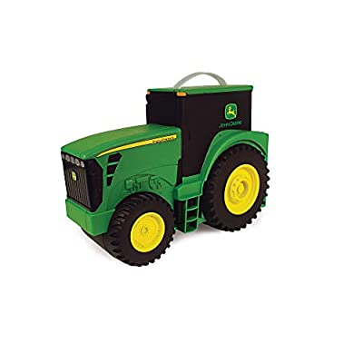 John Deere Durable Vehicle Toy Set for Kids with Tractor Shaped Portable Carry Case: Toys & Games