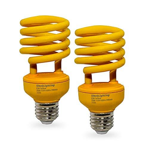 SleekLighting 23 Watt T2 Yellow Bug Light Spiral
