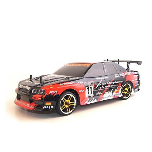 ALEKO Electric Powered On Road Touring Car Toy (1:10 Scale), Red
