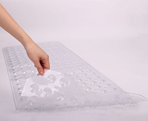 Yimobra Original Bath Tub and Shower Mat Extra Long 16 x 40 Inch,Anti Bacterial,Phthalate Free,Latex and Machine Washable Large Mats Materials,Clear (More Colors and Size for Choice) by Yimobra (Image #2)