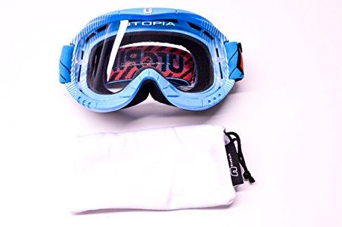 (Utopia Slayer Pro Mx Blue Fade Stripes Goggles)