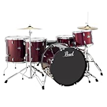 Pearl RS525SCC91 Roadshow 5-Piece Drum Set, Wine Red