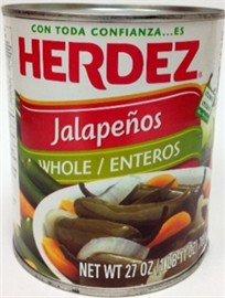 Herdez Whole Jalapenos, 27 oz.