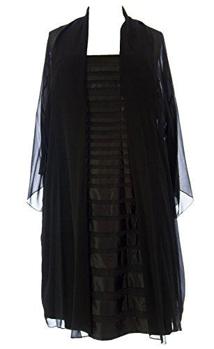 MARINA RINALDI by MaxMara Ghiand/R Black 2-PC Dress w/ Cardigan 18W / 27 at Amazon Womens Clothing store: