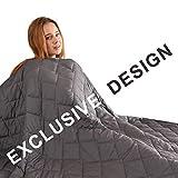 "FAHUA Mantas Originales con Peso de 20 Libras 60 x 80 Pulgadas tamaño Queen Adulto Transpirable algodón Pesado Manta con abalorio de Vidrio, Gris, 41""x60"", 07 lbs"