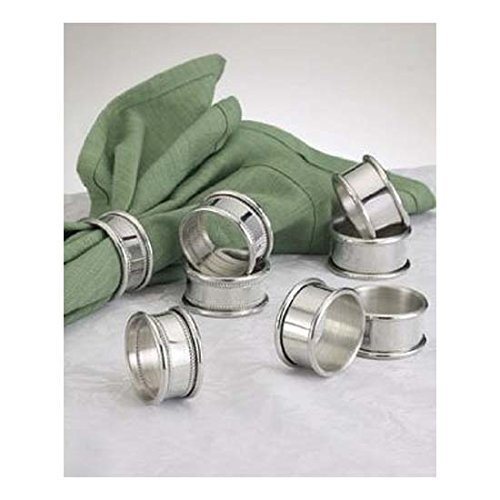 Empire Pewter Plain Napkin Rings - Set of 4 by Empire Silver
