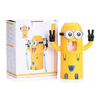 Dispensador de pasta de dientes de Minions - Soporte para cepillo de dientes - A los niños les encanta cepillar sus dientes: Amazon.es: Salud y cuidado ...