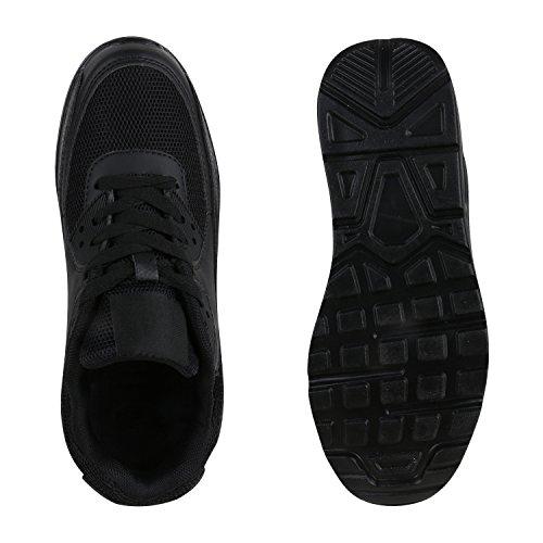 Übergrößen Sportschuhe Schwarz Stiefelparadies Flandell Total Herren Damen Laufschuhe Unisex Brooklyn xPqwPUXtT