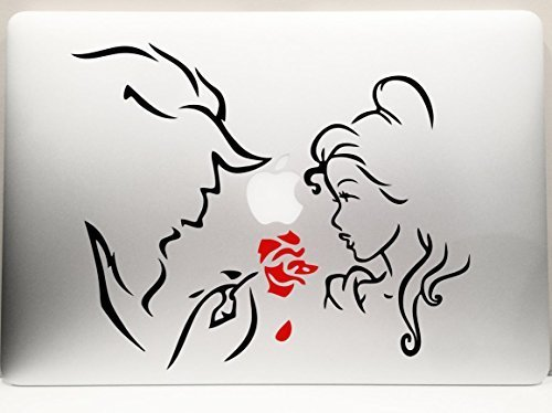 - LA DECAL Beauty and the Beast and the Red Rose car truck SUV mac book mac air laptop tool box wall window decal sticker 8