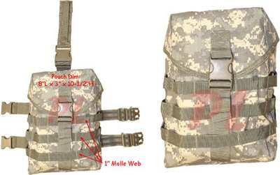 Gas Mask Model: Molle Tactical GAS MASK POUCH Pocket UTILITY Carrier Drop Leg Hip Rig - ACU by Generic :: Gas Mask Bag :: Army Gas Masks :: Best Gas Mask