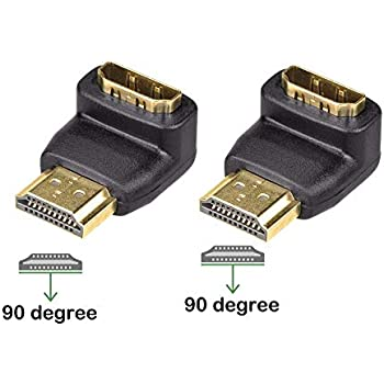 High Quality 90 Degree Left Right Angled Gold Plated Mini Hdmi To Hdmi Female Cable Male To Female For Hdtv 1080p Ps3 Htc Vedio Computer Cables & Connectors